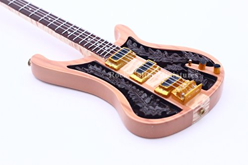 Unbekannt RGM639 Lemmy Kilmister Miniatur-Gitarre mit Leder-Gitarrengurt (Miniatures Motorhead)