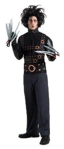 Edward mit den Scherenhänden Halloweenkostüm Lizenzware schwarz (Edward Handschuhe Mit Kostüm Den Scherenhänden)