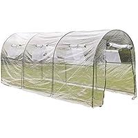 vidaXL Serra da giardino orto all'aperto con ampia cabina portatile fioriera piante