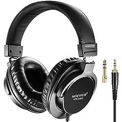 Neewer NW3000 Casque de Studio 10Hz-26kHz Casque Dynamique Léger avec 3m Câble, 3,5mm et 6,5mm Prises, Faible Bruit pour Musique Films Jeux Enregistrement