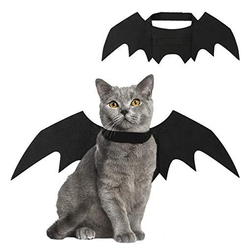 Vavopaw costumi per gatti, costume halloween per animali domestici costume di ali di pipistrello vestito con chiusura a strappo simpatico costume pet - nero