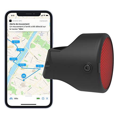Invoxia Bike Tracker - Traceur GPS Antivol Vélo - Réflecteur avec Alertes en Temps Réel - Abonnement 3 ans Inclus - Jusqu'à 3 Mois d'Autonomie - Discret et Léger - Étanche
