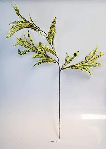 Artificielles – Croton aus AST, 65 cm, 3 Köpfe, 45 Blatt, Stoff, Grün/Gelb – Farbe: Grün/Gelb