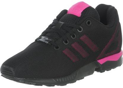 adidas ZX Flux K, Baskets Basses Mixte enfant, Noir/Rose, 16 EU Noir
