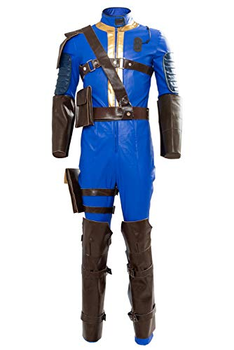 MingoTor Superheld Jumpsuit Outfit Cosplay Kostüm for Adults Herren - Vault 111 Kostüm