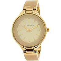 Anne Klein Women's Gold Mixed Band Watch - AK-1408CRCR