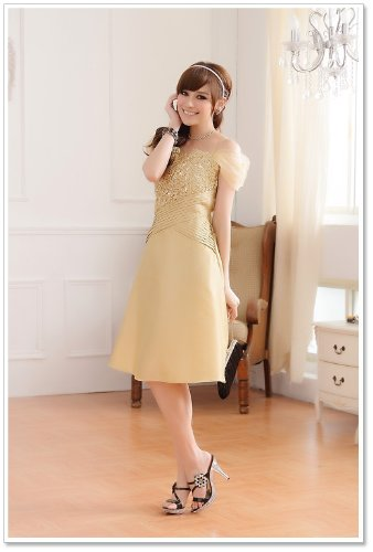 VIP Dress Kurzes Cocktailkleid / Jugendweihekleid / Ballkleid in Beige Beige