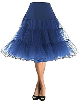 DaisyFormals 50s Vintage Crinolina sottogonna Retro sottogonna tulle Rockabilly tutù danza, 66cm
