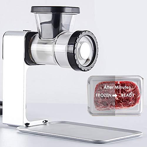 TAMUME Picadora de Carne con Bandeja para Descongelar Carne y Embutidora de Salchicha, Profesional Procesador de Alimentos