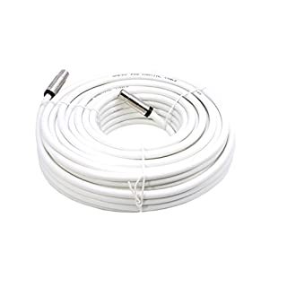 Smedz 15 m Fully Assembled Digital TV Aerial Cable Extension Kit with Male - Male Connections - White