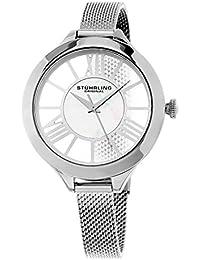 Stührling Original 595.01 - Reloj analógico para mujer, correa de acero inoxidable, color plateado