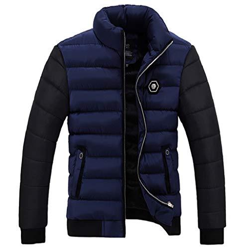 Luckycat Herren Winter Farbe Collision Cotton Jacket Verdickung warme Baumwolle gepolsterten Mantel...