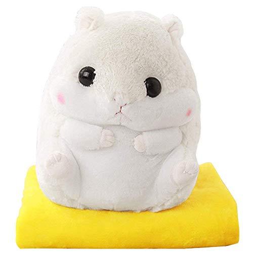 Hug mee 2 in 1 gefüllt Fat Hamster mit Plüsch Kissen und warm Bezug für Decke und Kinder ()