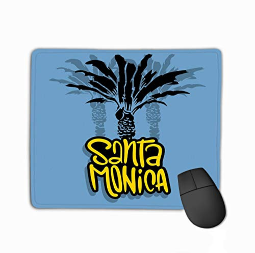 ca California Design Palm Trees Logo Sign Label Promotion ads Sticker Poster Flyer Rectangle Rubber Mousepad 11.81 X 9.84 Inch ()