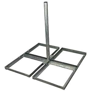 Optima Support pour toiture non pénétrant pour antenne satellite 91,5 x 5 cm