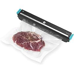 Cecotec FoodCare SealVac 600 Easy Envasadora al vacío, Sistema de envasado en 10 Segundos, presión de vacío de 60 kPa, 5 Bolsas de 20 x 30 cm, aptas para Bolsas genéricas