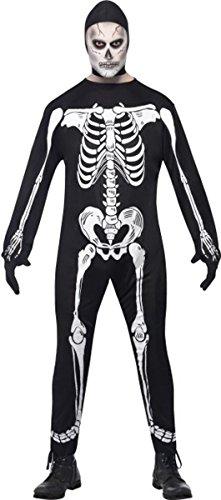 Herren HALLOWEEN FANCY Kleid Party Outfit Skelett Overall Kostüm schwarz Gr. L, multi