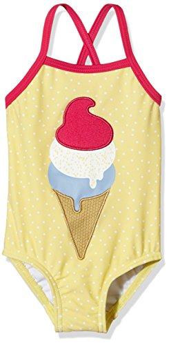 NAME IT Mädchen Einteiler NITZIGA M SWIMSUIT 216, mit Print, Gr. 86 (Herstellergröße: 86-92), Gelb (Popcorn)