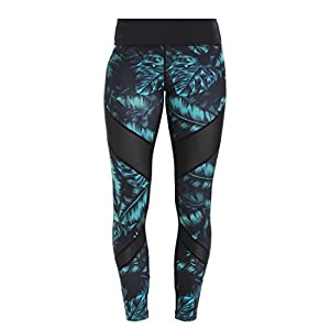 Even&Odd Trainings Tights mit Mesh Einsatz für Damen – Sport Leggings elastisch & figurbetont – Sporthose lang & eng für Fitness, Yoga & Pilates