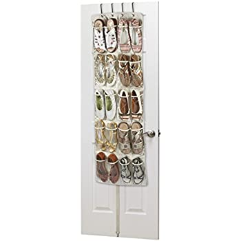 Heavy Duty 20 Pocket Over Door Hanging Shoe Organiser For 10 Pairs   Robust  Oxford Canvas