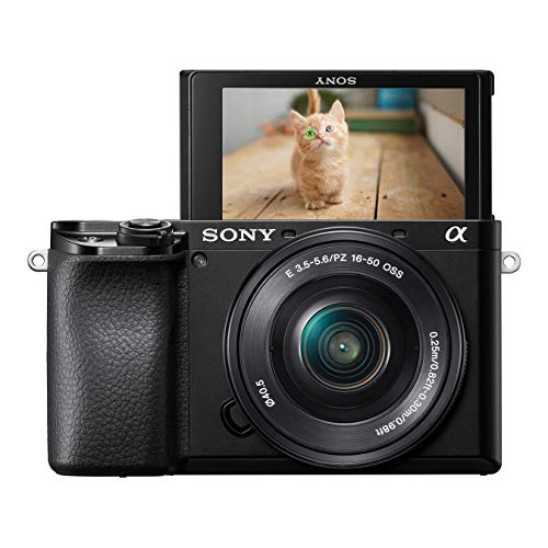 Sony Alpha 6100L | Fotocamera Digitale Mirrorless con Obiettivo Intercambiabile SELP 16-50mm, Sensore APS-C, Video 4K, Real Time Eye AF, Real Time Tracking, ILCE6100B + SELP1650, Nero