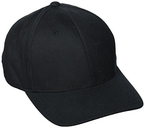 Flexfit ® Fullcap 6 Panel Baseballcap mit geschlossener Rueckseite und Elasthananteil in 13 Farben und 2 Groessen Schwarz, L/XL  210 Fitted Cap