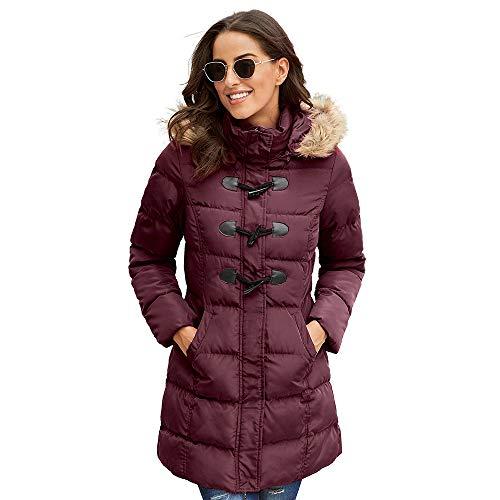 YTFAIFEN Winter-Daunenjacke, warm, für Damen, Dicke Baumwolle, für den Winter, in Europa und den Vereinigten Staaten, im Langen Abschnitt des großen Mantel 8