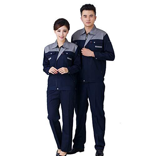 KINDOYO Set di abbigliamento da lavoro - uomo e donna a maniche lunghe a due colori indumenti da lavoro assicurazione lavoro saldatura set di riparazione auto, Stile-9, EU S=Tag M