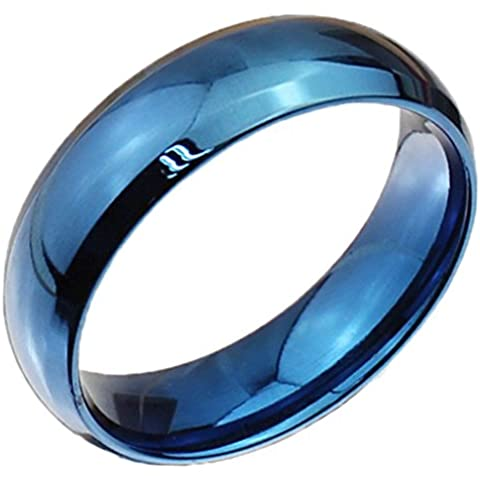 Acciaio inox Classic Wedding Bands Leale unisex cerchio finito di AieniD - Religiosi Diamante Wedding Band