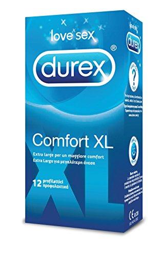 Durex Comfort XL Preservativi Extra Large, 12 Profilattici