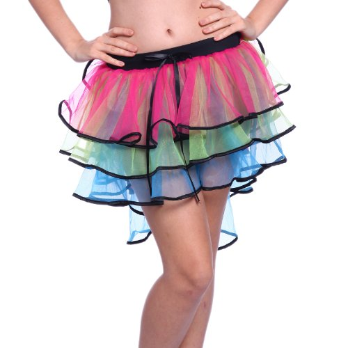 Damen Crazy Dance Kostüme (Burlesque ROCK Tutu Tuetue Dance Dress Tanzkleid Petticoat Ballett Tanze Pettiskirt Crazy Chick)