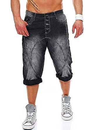 Cipo & Baxx Herren Kurze Hose Jeans Nieten Caprihose Bermuda Shorts