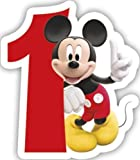 Procos Playful Mickey & Friends Number 1 Shaped Birthday Cake Candle