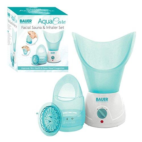 Bauer Professional Aqua Pflege Gesichts- Sauna und Inhalator Set, Gesichts- Dampf, Reiniger für Weicher Haut und Mitesserentferner -