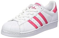 adidas Kids' Superstar Trainers Real Pink/Footwear White, 5.5 UK 38 2/3 EU