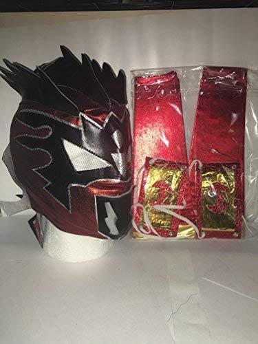 Deckenleuchte rot metallic Zip Up Wrestling Maske W/2Arm Ärmel Für Kinder