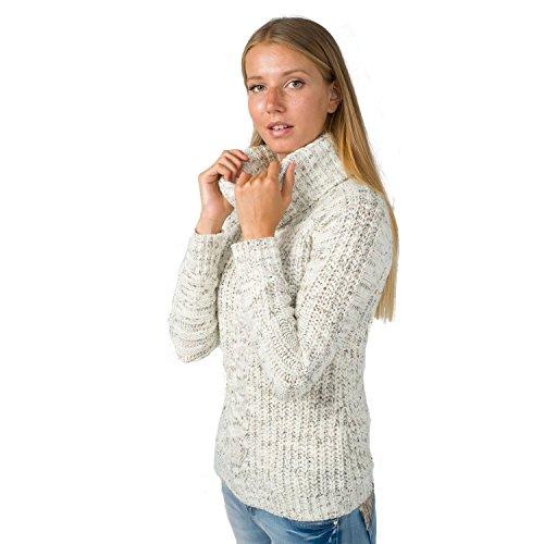 Koroshi -  Maglia a manica lunga  - Donna Ecru