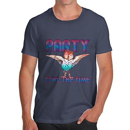 TWISTED ENVY  Herren T-Shirt Blau - Navy