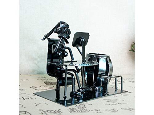 (Schreibtisch-Organisator Musik Iron Man Kunst Stahl Federbehälter Halter Bleistift Cup Desktop Musik Dekoration Bleistiftbehälter (Farbe : As Shown))
