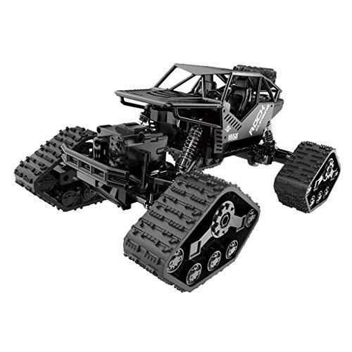 Jamicy® Ferngesteuertes Auto RC Auto Off Road High Speed 4WD, Alles Gelände Ferngesteuerter Auto für Kinder Draußen, Crawler Kettenrad Off-Road Auto (Schwarz)