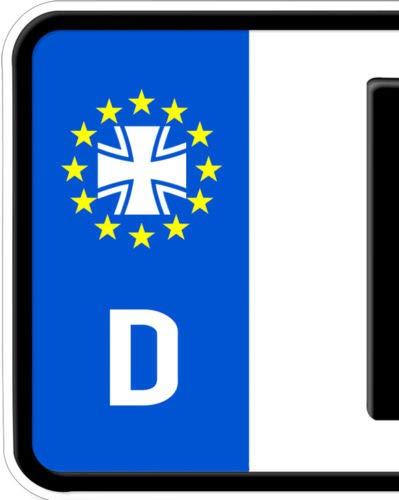 HR-WERBEDESIGN 2X Aufkleber Eisernes Kreuz Totenkopf Nummernschild Kennzeichen Bundeswehr Iron -