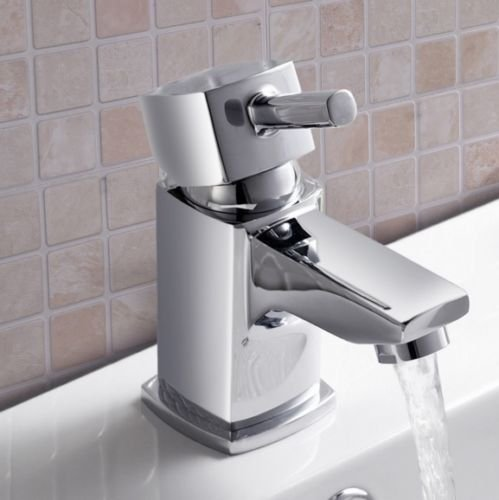 york-square-mini-cloakroom-basin-mixer-low-pressure-tap-inc-click-clack-waste
