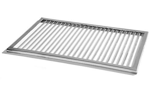 Premium griglia in acciaio inox 53x 38con cornice, weber gas grill, 6mm barre v2a barbecue rettangolare, shell fuoco camino cestino