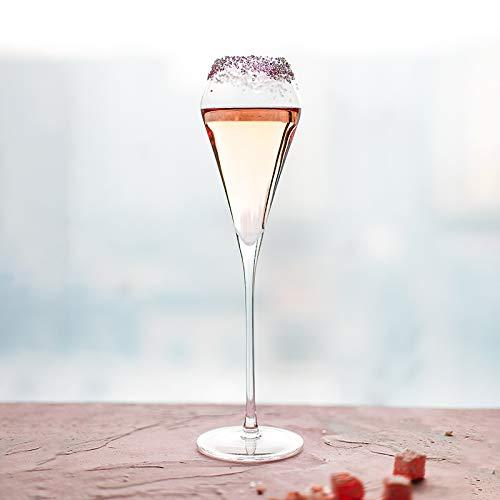 HYKJ Handgemachte Champagner Glas schäumen high-Footed süßen Wein Glas Blei Kristall Blase Weinglas (Kristall Wein Gläser Blei)