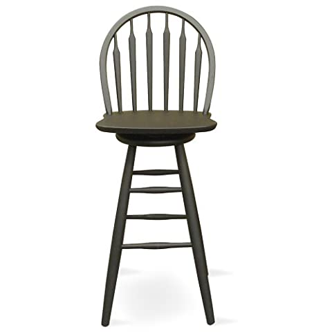 International Concepts S46-613 30-Inch Windsor Arrow Back Swivel Bar Stool, Black by International Concepts