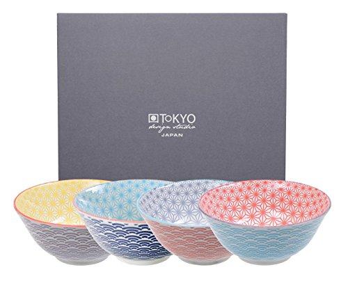 TOKYO design studio, Star Wave, 4 Schalen Set , 4-tlg., Ø 15.2 cm, Porzellan aus Japan Design-porzellan