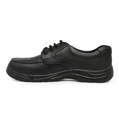 Bata Industrials Moulded Low Cut PVC Safety Shoes, Black, Size 7 (UK)