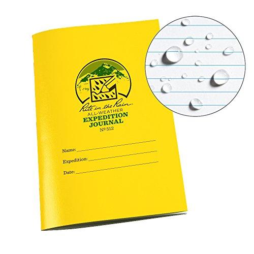 Rite In The Rain Unisex Sattel Stitch Bound Wasserdicht Expedition Tagebuch, gelb, 4⅝ X 17,8cm -