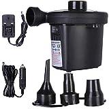 XQYPYL Elektrische Luftpumpe Für Schlauchboote,AC100~240V/DC12(V) Elektrische Pumpe, 3 Luftdüse, Aufblasen & Luft Ablassen Für Aufblasbare Matratze und Aufblasbares Spielzeug