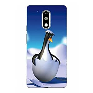 Moto G4 Play Penguin Printed White Hard Back Cover By Make My Print